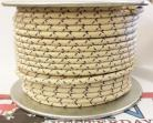12ga, OVERSTOCK, Lacquer Coated Cloth Braided Wire, Off-White / Purple XT
